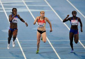 Verena SAILER (GER) gewinnt 100m in Barcelona